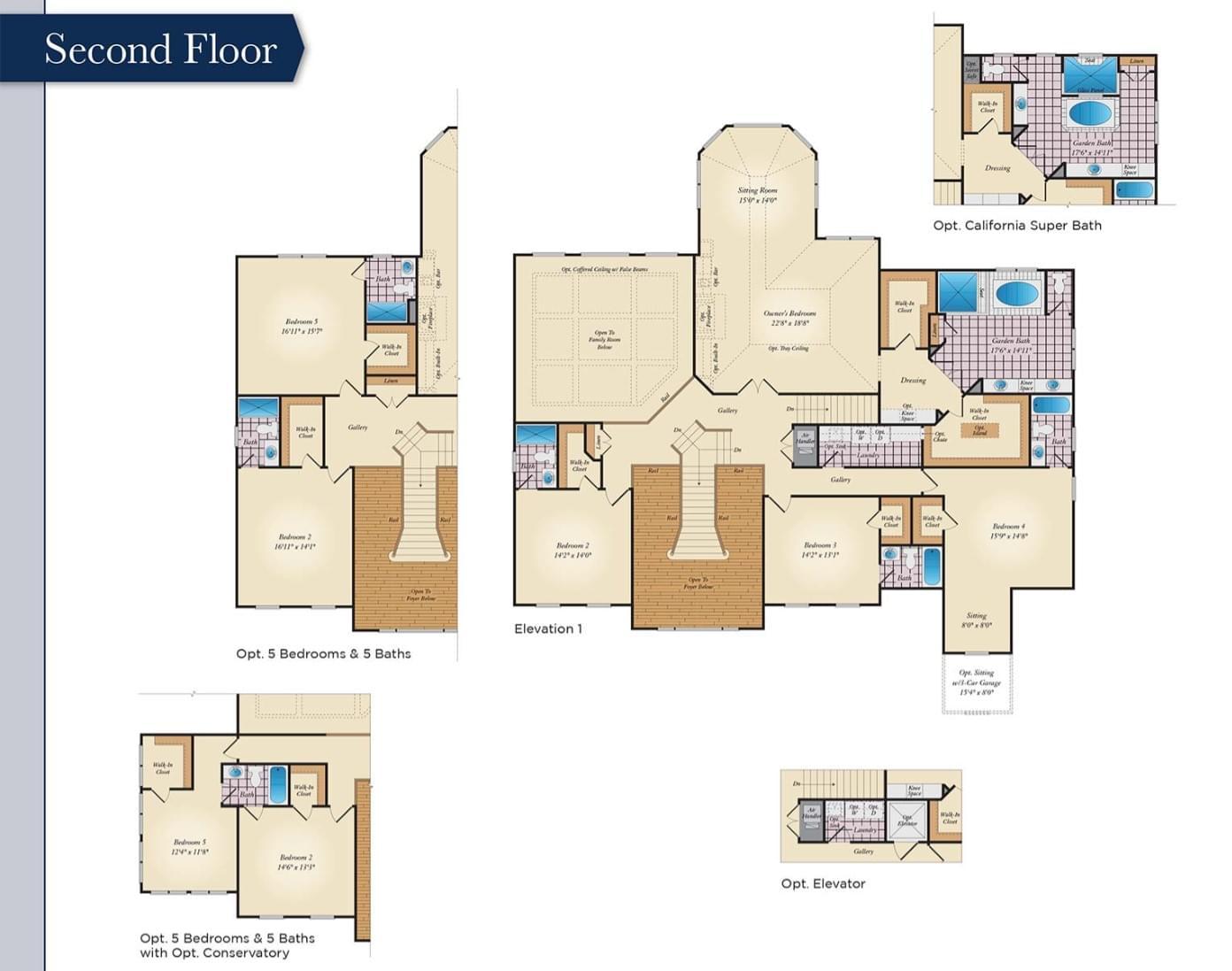 Second Floor. Monarch Home with 4 Bedrooms