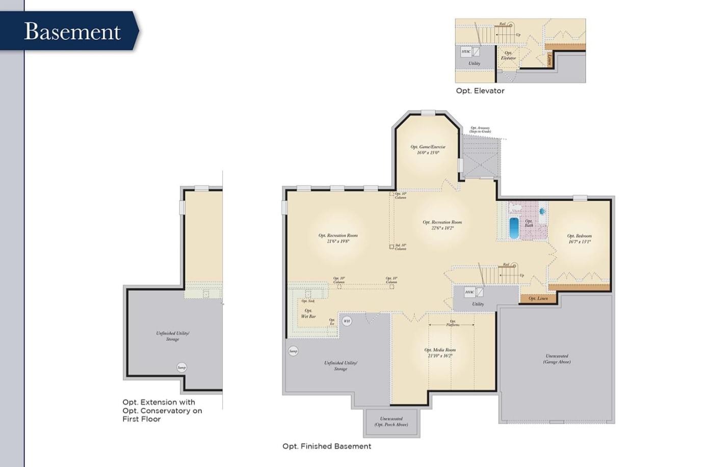 Basement. 5,360sf New Home