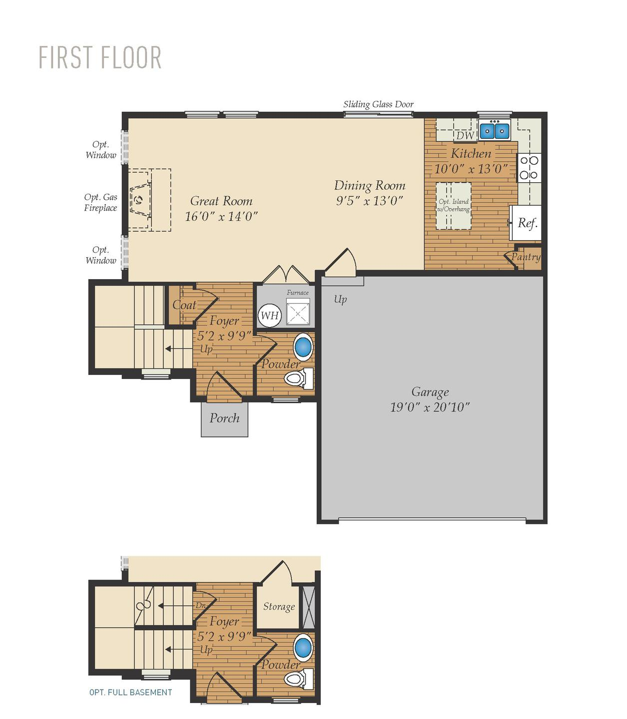 First Floor. 1,458sf New Home
