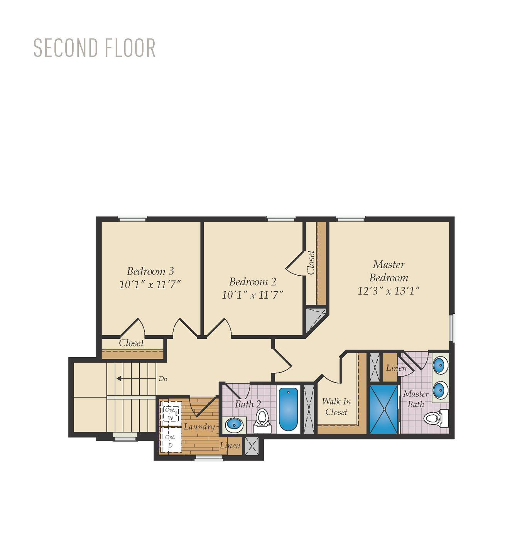 Second Floor. Nanticoke Home with 3 Bedrooms