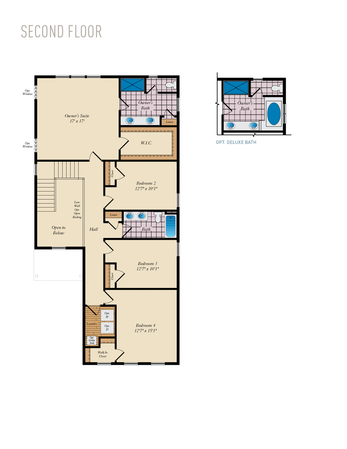 Second Floor . 2,532sf New Home