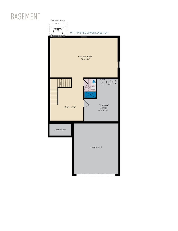 Basement . Amherst New Home Floor Plan