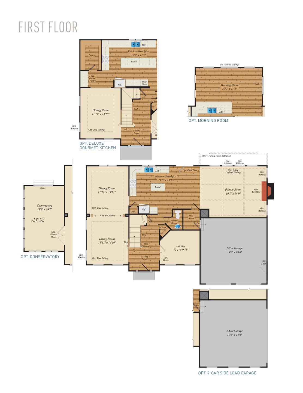 First Floor. Emory II New Home Floor Plan