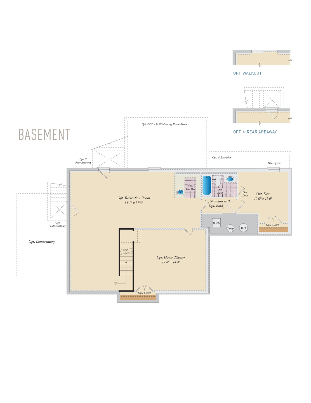 Basement . 2,962sf New Home