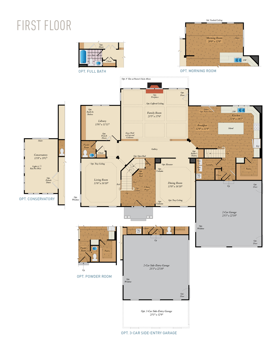 First Floor . Monticello Home with 4 Bedrooms