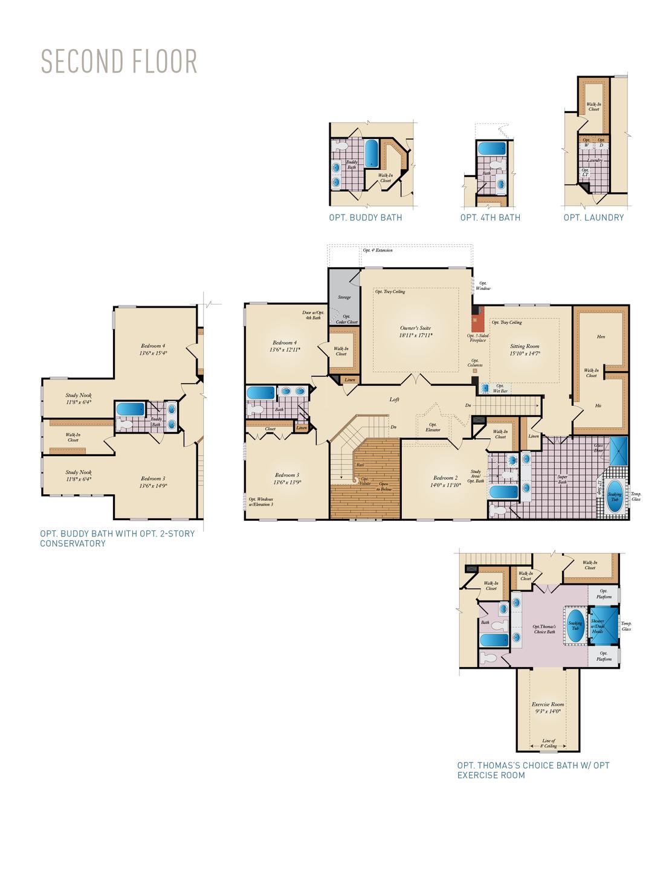 Second Floor . Monticello New Home Floor Plan