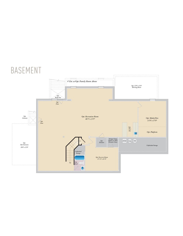 Basement . 4,650sf New Home