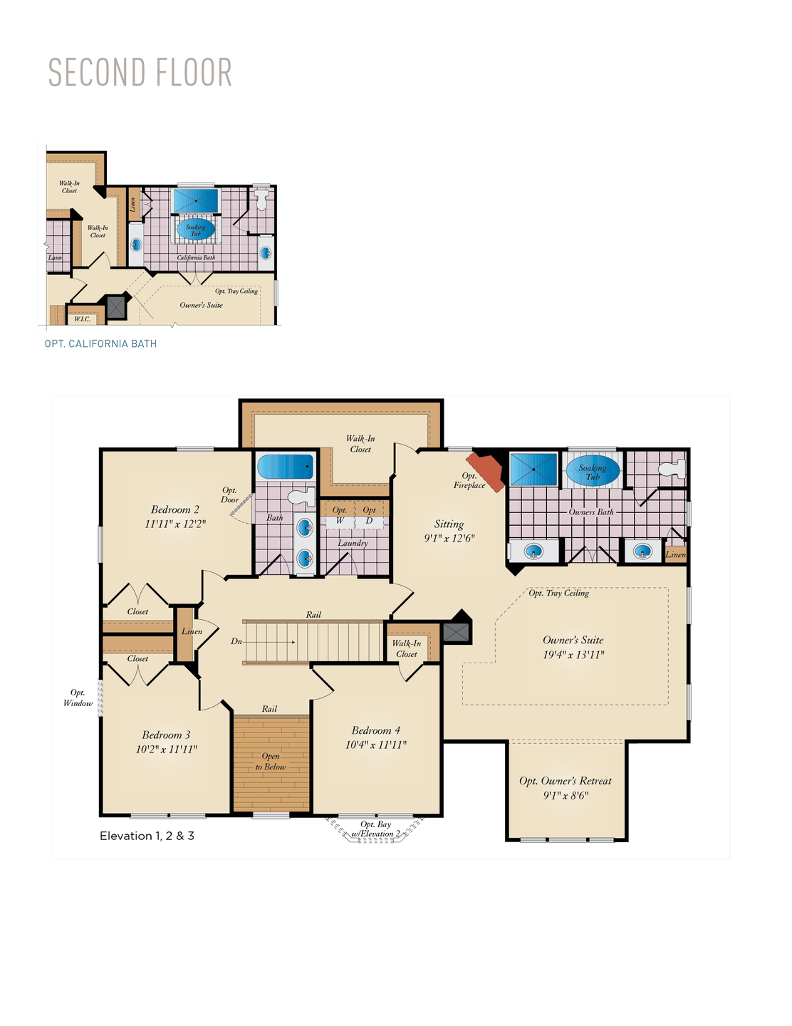 Second Floor . Oxford Home with 4 Bedrooms