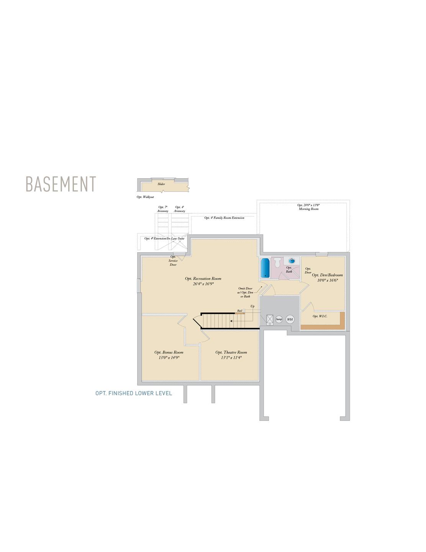 Basement . Oxford New Home Floor Plan