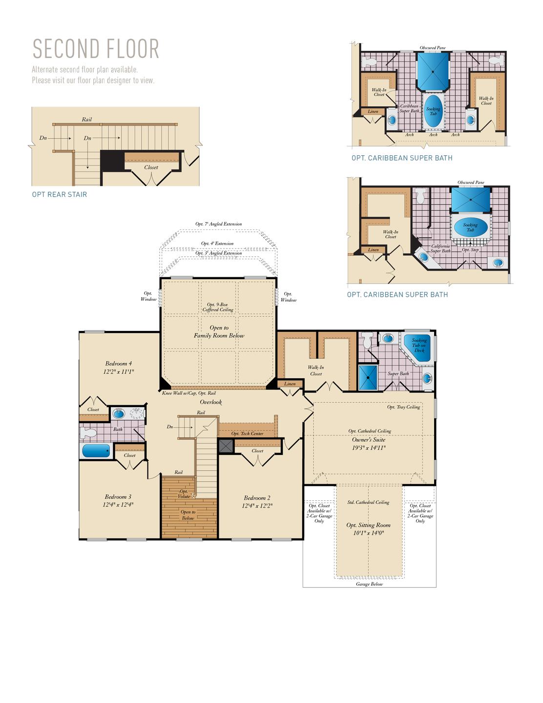 Second Floor . Princeton New Home Floor Plan