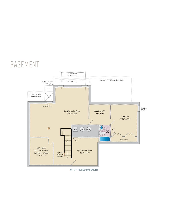 Basement . Princeton New Home Floor Plan