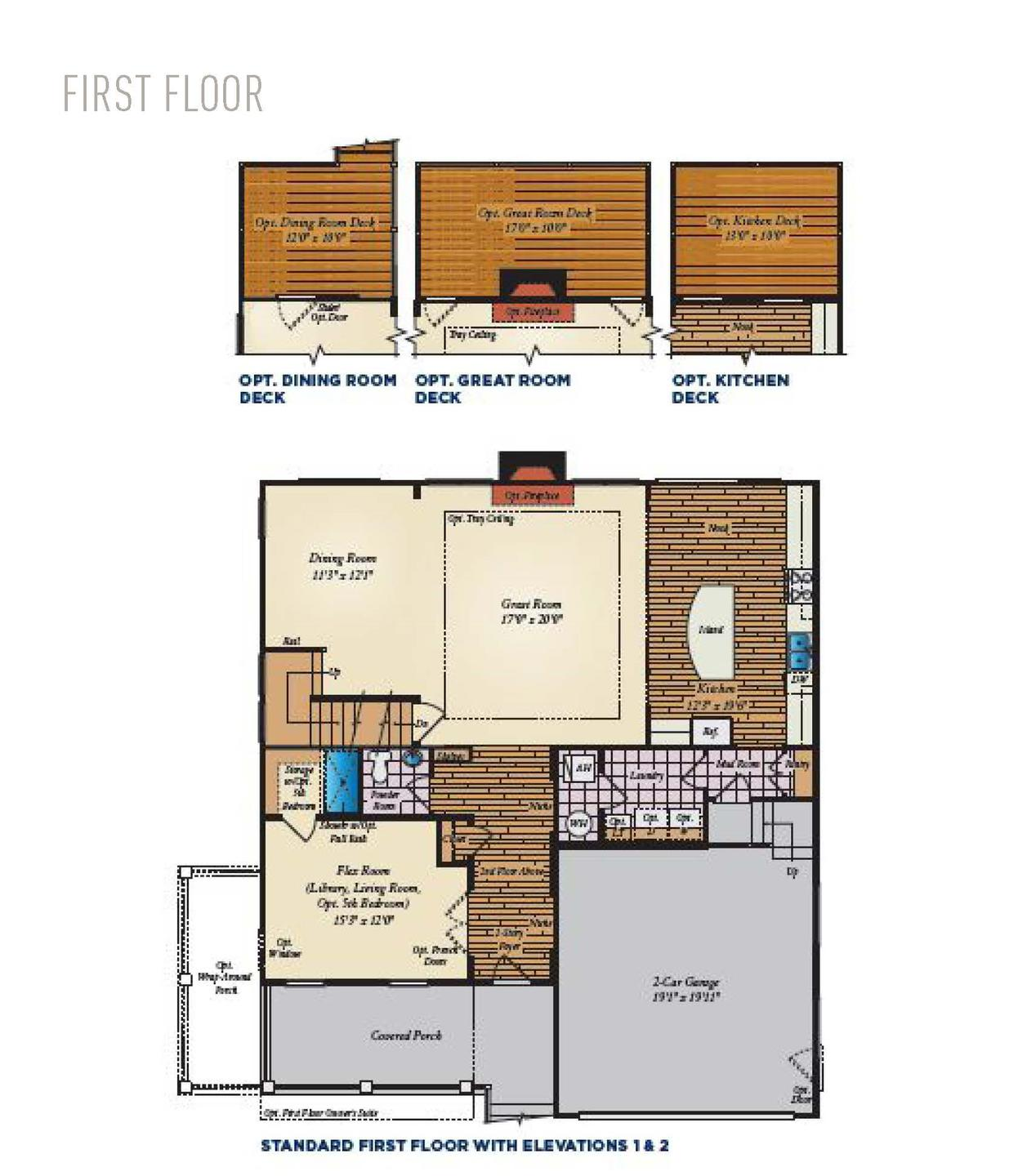 First Floor. 2,755sf New Home