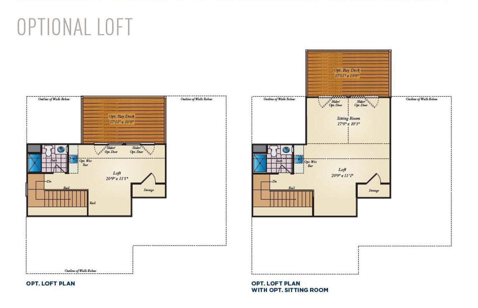 Optional Loft. Seahawk New Home Floor Plan