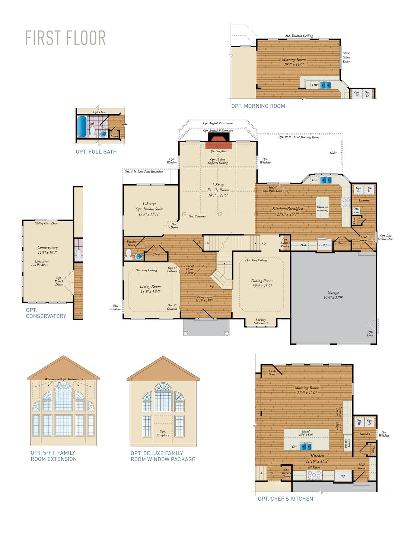 First Floor . Kingsport - Craftsman New Home Floor Plan
