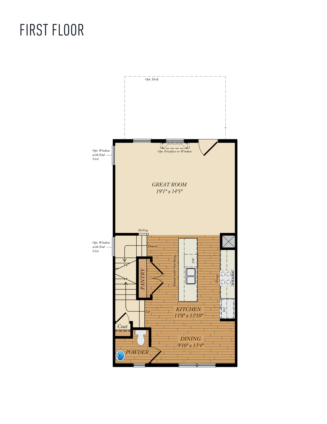 First Floor . Wye - Rear Load Home with 3 Bedrooms