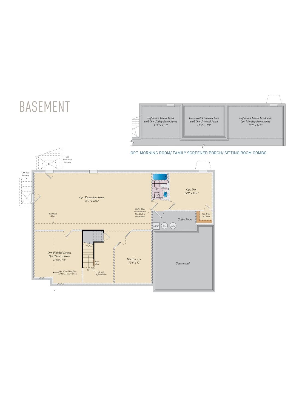 Basement . Lexington II - Craftsman New Home Floor Plan