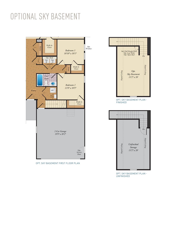 Optional Sky Basement . 1,440sf New Home