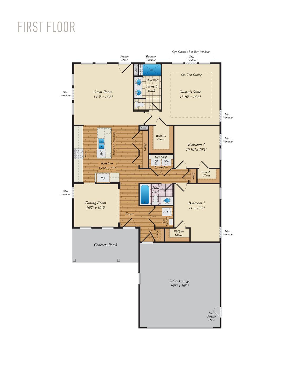 First Floor. Puccini II New Home Floor Plan