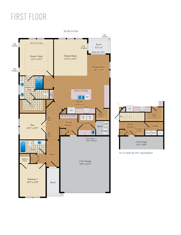 First Floor. Kellaway New Home Floor Plan
