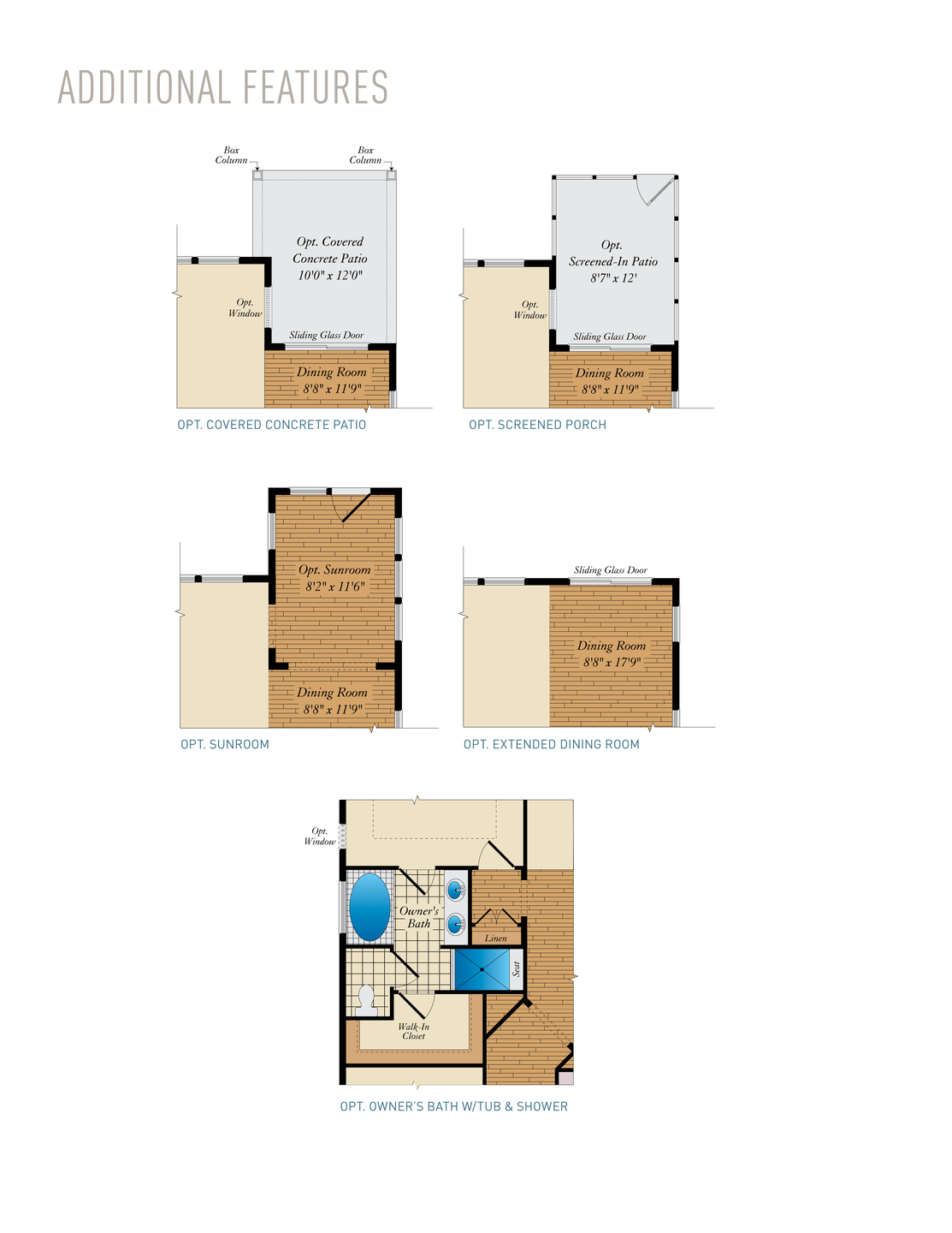 Additional Features . 1,661sf New Home