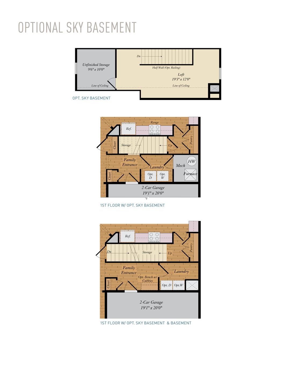 Optional Sky Basement. Kellaway New Home Floor Plan