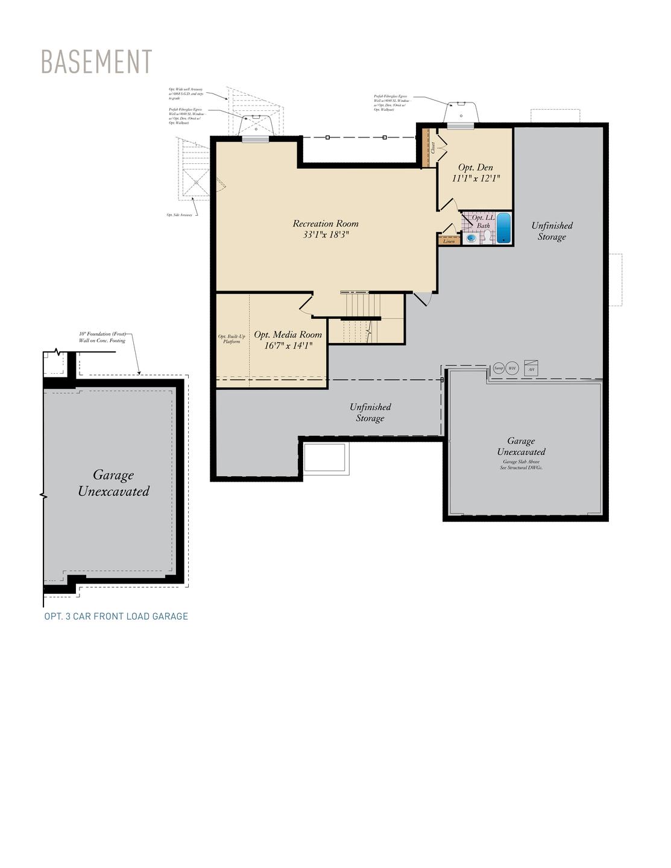 Basement . Charleston II New Home Floor Plan