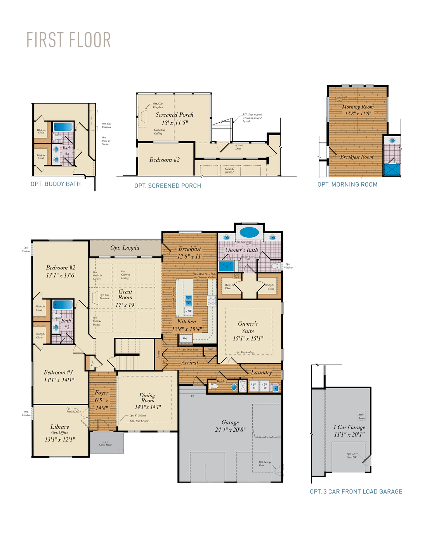 First Floor. Charleston II New Home Floor Plan