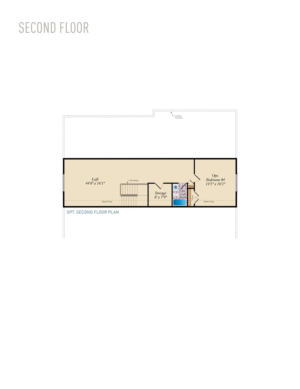 Second Floor . Charleston II Home with 3 Bedrooms