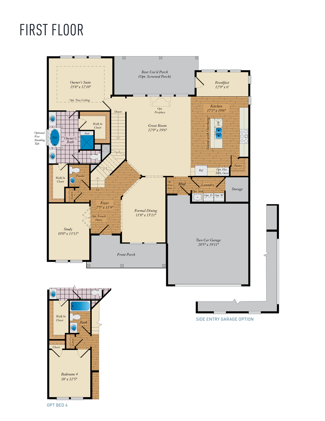 First Floor . Coverdale New Home Floor Plan