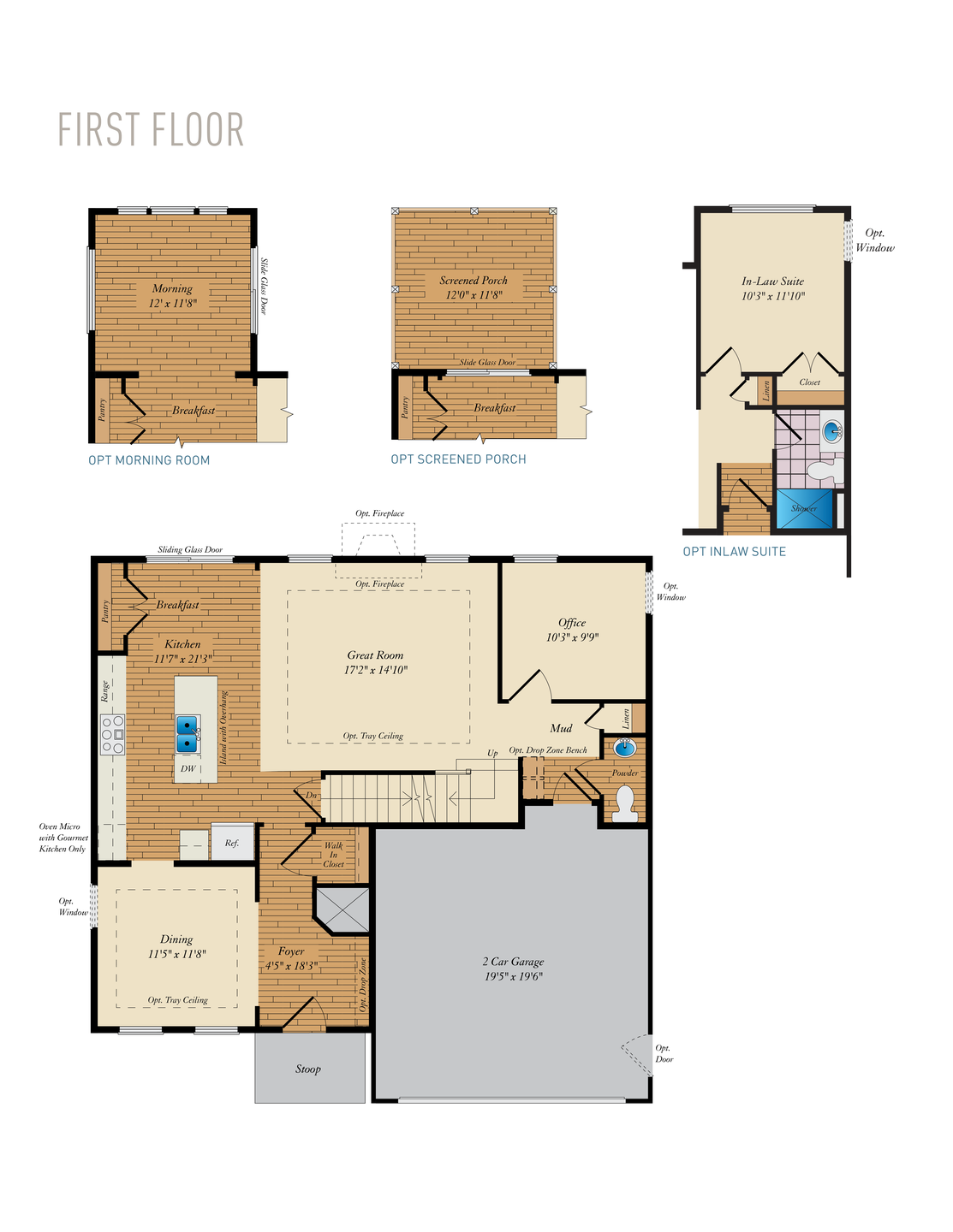 First Floor. 2,215sf New Home