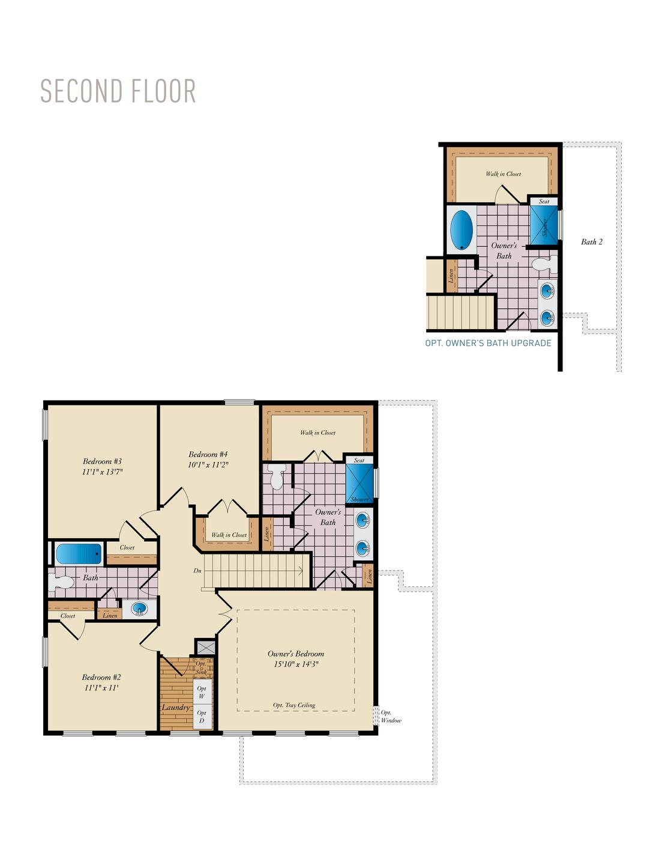 Second Floor . Deerfield New Home Floor Plan