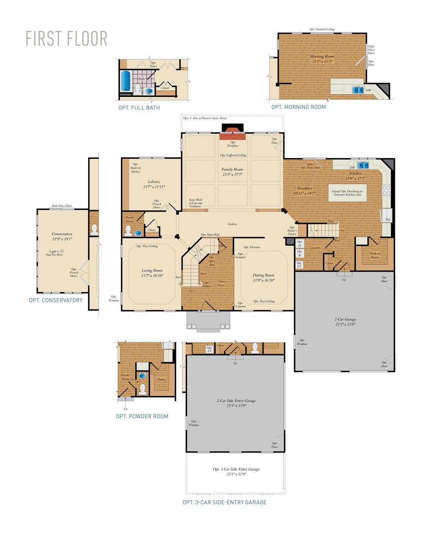 First Floor . Monticello - Craftsman New Home Floor Plan