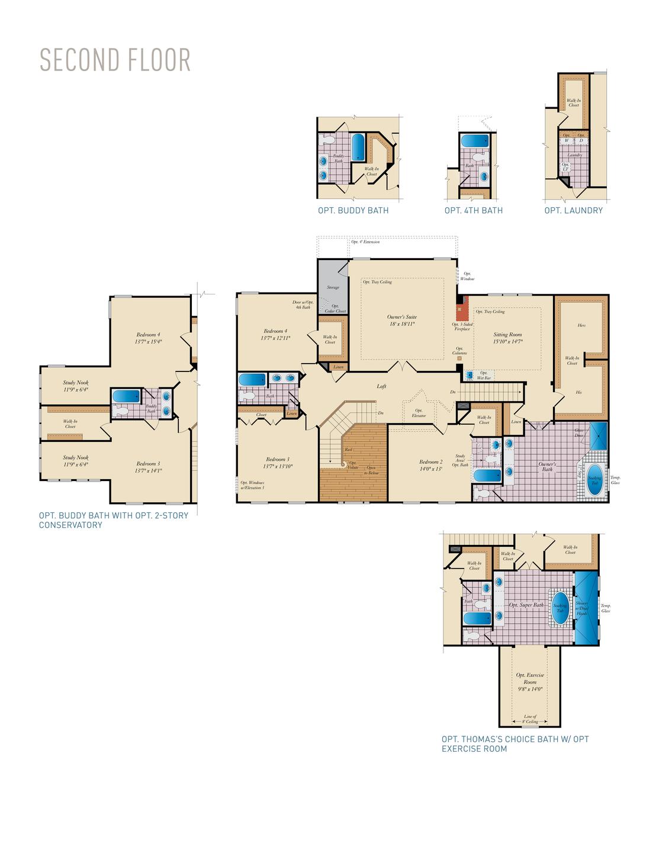 Second Floor . Monticello - Craftsman New Home Floor Plan