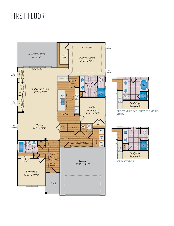 First Floor. Ashland New Home Floor Plan
