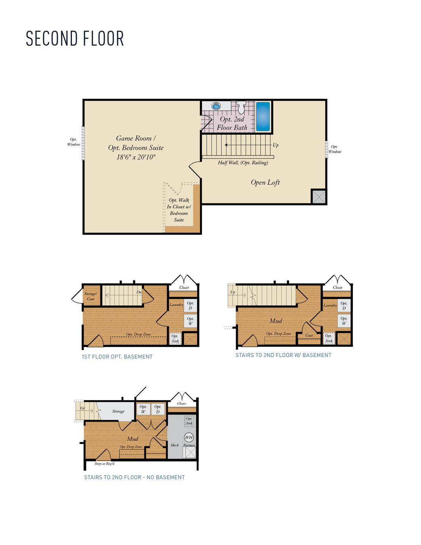 Second Floor . Ashland New Home Floor Plan