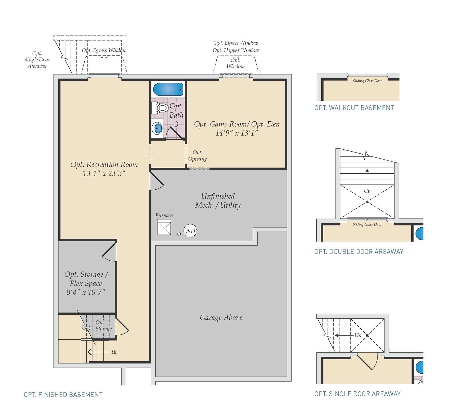 Optional Basement. Choptank New Home Floor Plan