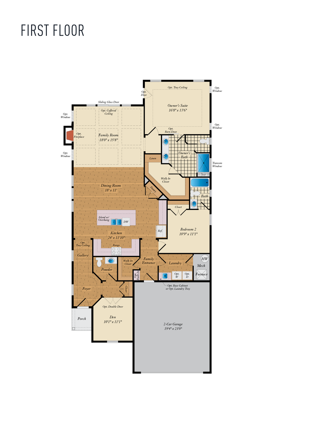 First Floor. Hayes Home with 2 Bedrooms