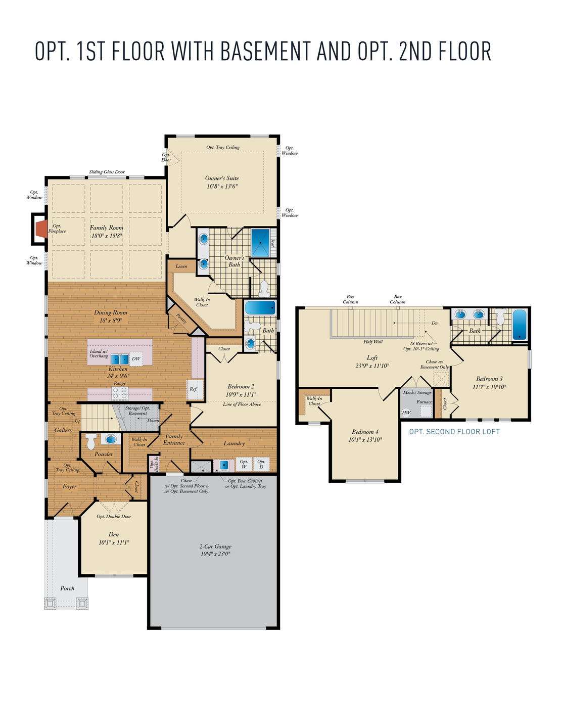 Opt. Second Floor . 1,957sf New Home