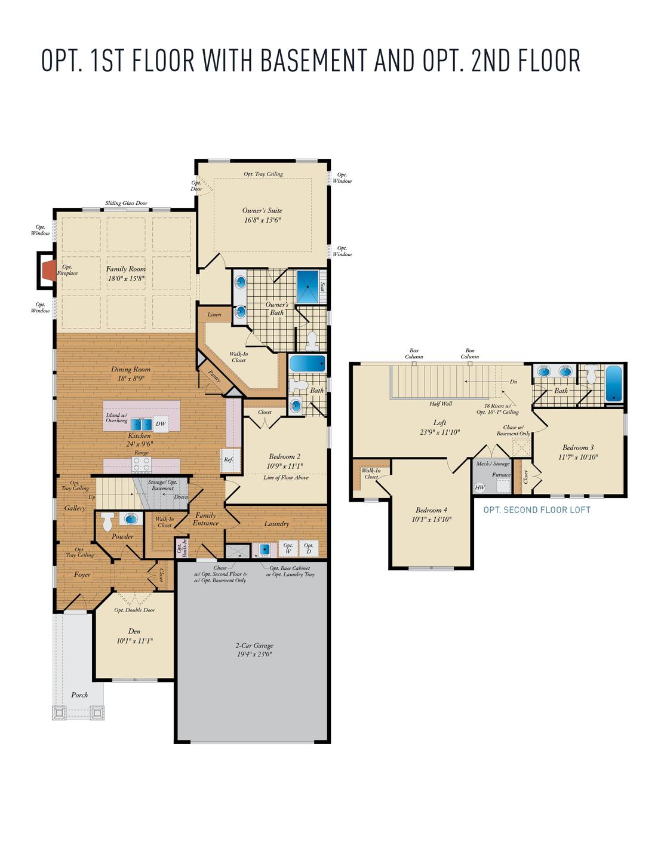 Opt. First Floor. Hayes New Home Floor Plan