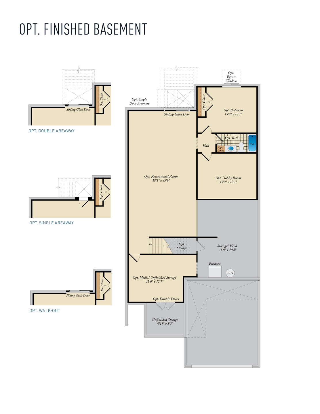 Opt. Lower Level. Hayes New Home Floor Plan