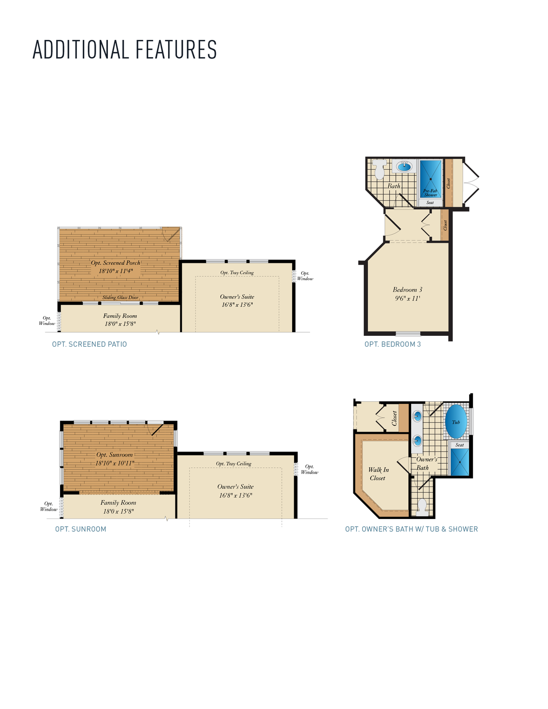 Additional Features. Hayes New Home Floor Plan