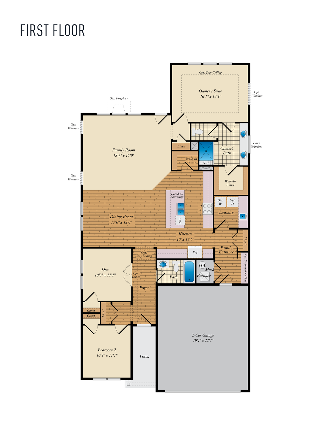 First Floor. Ives Home with 2 Bedrooms