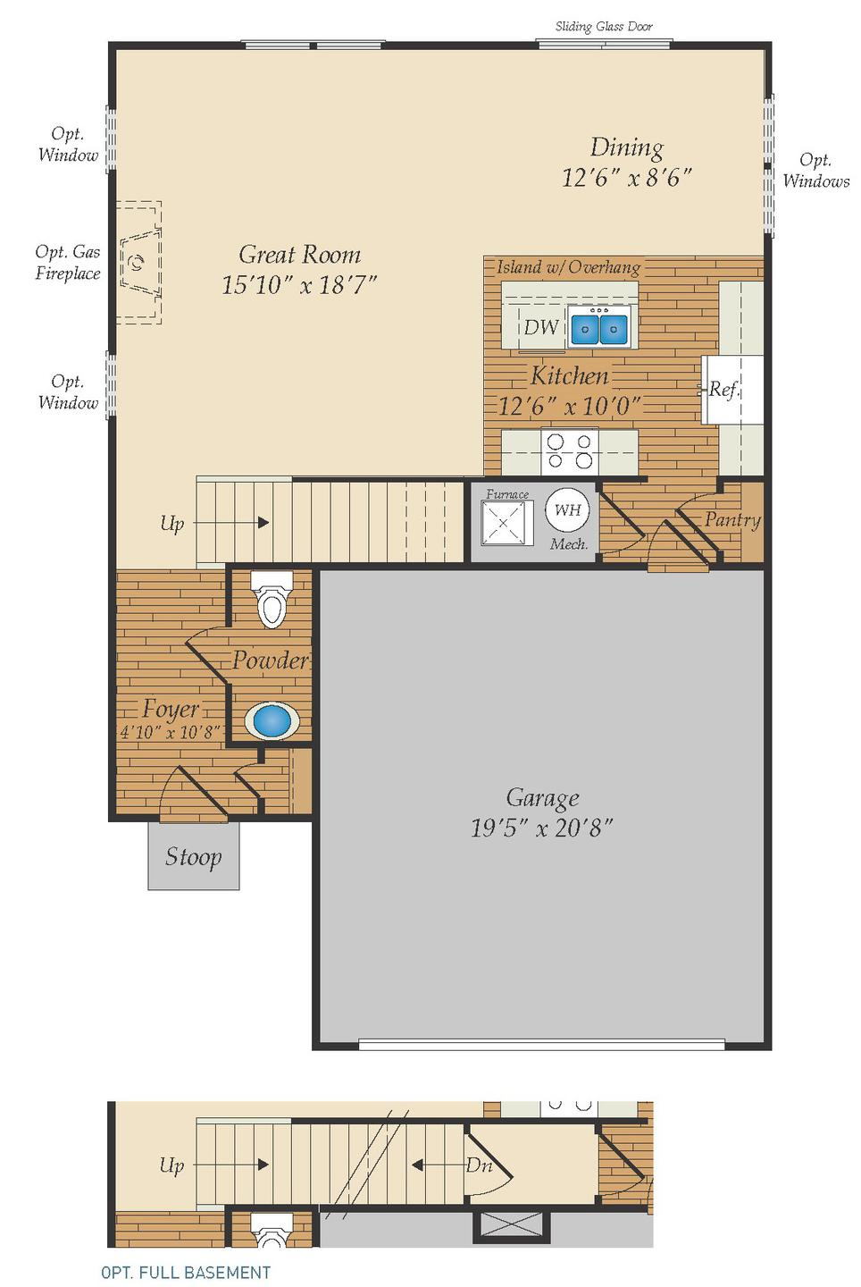 First Floor. 1,703sf New Home