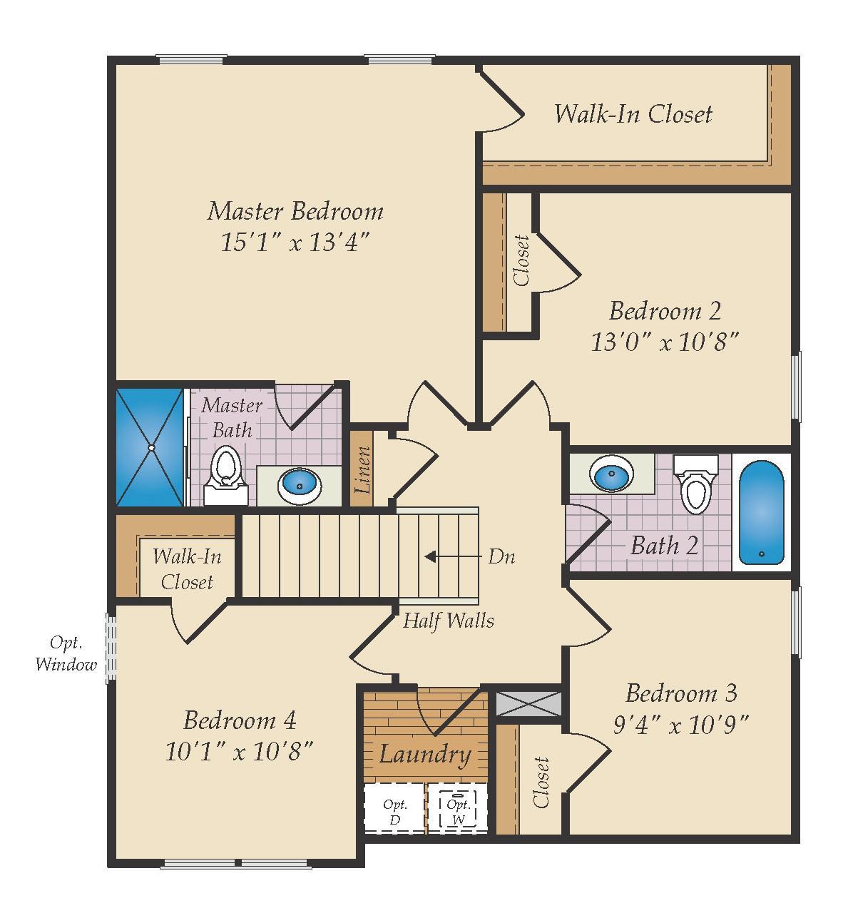 Second Floor. Pocomoke New Home Floor Plan