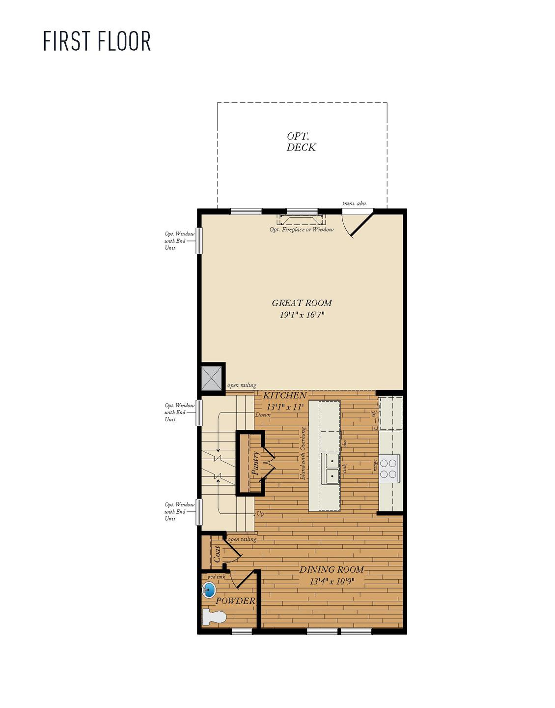 First Floor. 1,784sf New Home