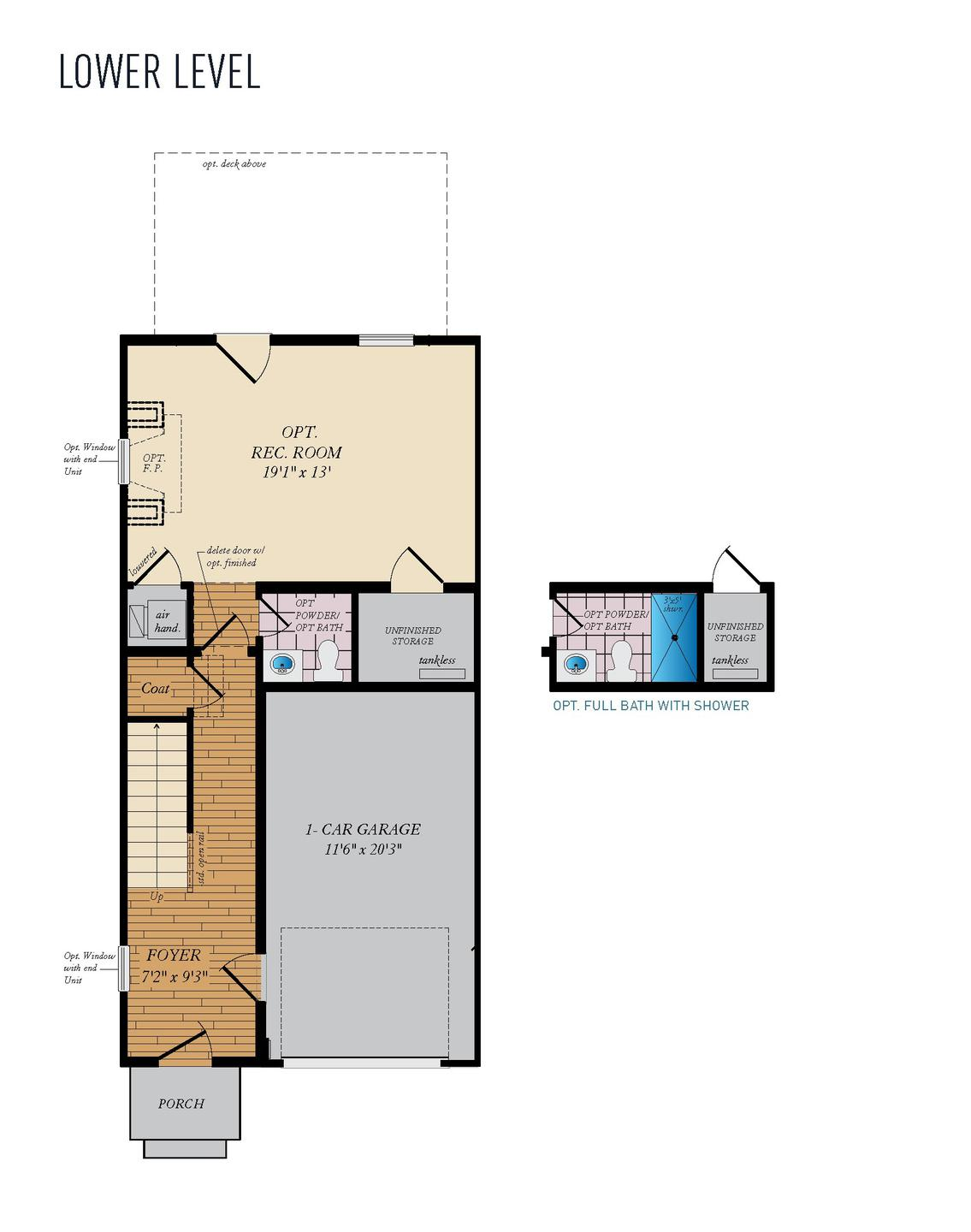 Lower Level. Magothy - Front Load Home with 3 Bedrooms