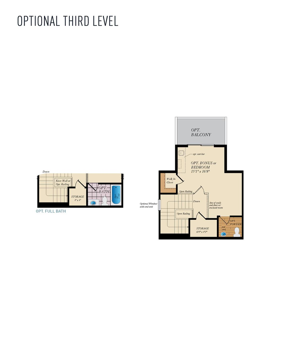 Opt. Third Level. 1,784sf New Home