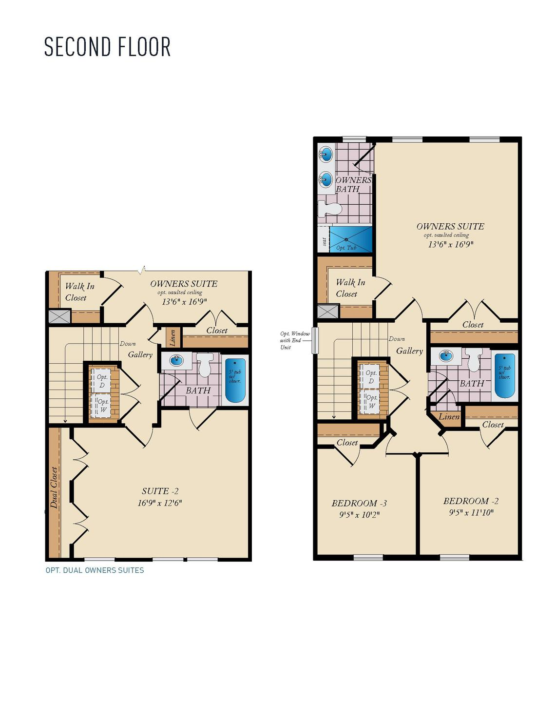 Second Floor. Magothy - Front Load Home with 3 Bedrooms